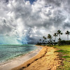 "<h2>Crazy Clouds in Oahu</h2> <br/>The water in Oahu had an unusual quality of keeping that turquoise color even if there was very little sun in the sky. It seemed like just a bit of sunshine is all that was needed to get into that crystal water and bounce around like a jewel.<br/><br/>This was the only sunshine I got after countless days of stormy weather. <br/><br/>- Trey Ratcliff<br/><br/><a href=""http://www.stuckincustoms.com/2012/09/30/crazy-clouds-in-oahu/"" rel=""nofollow"">Click here to read the rest of this post at the Stuck in Customs blog.</a>"