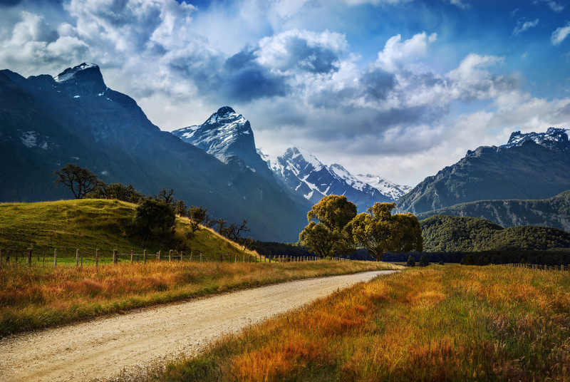 """<h2>The Dirt Road to Paradise</h2> <br/>After you pass Glenorchy, the paved road continues for a while as you approach Paradise. The paved road then turns into a dirt road. At this point, many visitors turn around, which is a shame! You can keep on rolling down this road in your rental car for quite a way. There's even a few river crossings you can make, like Arwen on horseback. You can do it! Probably. I even see giant campervans going through here… anyway, the dirt road is in pretty good condition, so don't let that turn you back!<br/><br/>- Trey Ratcliff<br/><br/><a href=""""http://www.stuckincustoms.com/2013/02/22/the-dirt-road-to-paradise/"""" rel=""""nofollow"""">Click here to read the rest of this post at the Stuck in Customs blog.</a>"""