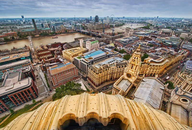 """<h2>Old London From Above</h2> <br/>It's a long walk to the top of St. Paul's.  And by long walk, I should throw in that there are a lot of stairs.  But, after you finally arrive, you're greeted by a wonderful view of the city.  As long as you don't have too much of an issue with heights, you'll be in for a treat.<br/><br/>Even though I saw all sorts of stuff while I was up there, I enjoyed working on this photo too.  I was able to zoom into 100% and look at all the details and little buildings/bridges/shops once again.  It reminded me of walking around many of them at ground level.<br/><br/>- Trey Ratcliff<br/><br/>Read more <a href=""""http://www.stuckincustoms.com/2012/02/08/old-london-from-above/"""">here</a> at the Stuck in Customs blog."""