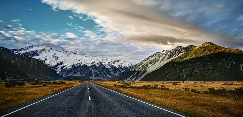 """<h2>The Cinematic Country</h2> <br/>When you drive to Aoraki Village, it can take many more hours than necessary if you like to take photos. There are literally one million places to jump out and get photos of roads and the mountain! So awesome!<br/>Here's a little hint if you take this road. If you walk off to the right and jump the fence, there are many little streams that are also very beautiful. No one ever walks over there… I don't know why. Don't let the fence stop you. No one is over there!<br/> <br/>- Trey Ratcliff<br/><br/><a href=""""http://www.stuckincustoms.com/2013/05/26/the-cinematic-country/"""" rel=""""nofollow"""">Click here to read the rest of this post at the Stuck in Customs blog.</a>"""