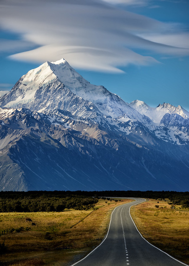 What Does The Road Look Like on the Way to Mount Cook?