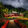 "<h2>Temple in the Jungle Highlands - Byodo-In</h2> <br/>I would never have guessed that something as ornate and unique as this would be buried up in the deep jungled highlands of Oahu!<br/><br/>It is a popular destination, and I guess people in Oahu know about it, but I had never heard of such a place.  This is the Byodo-In Temple, and I happened to arrive right when the sun came out.  This is a nice time because the morning fog and storms had left many layers of clouds and mist in the background, which gave everything a very unusual feel…<br/><br/>- Trey Ratcliff<br/><br/><a href=""http://www.stuckincustoms.com/2012/03/22/byodo-in-temple/"" rel=""nofollow"">Click here to read the rest of this post at the Stuck in Customs blog.</a>"