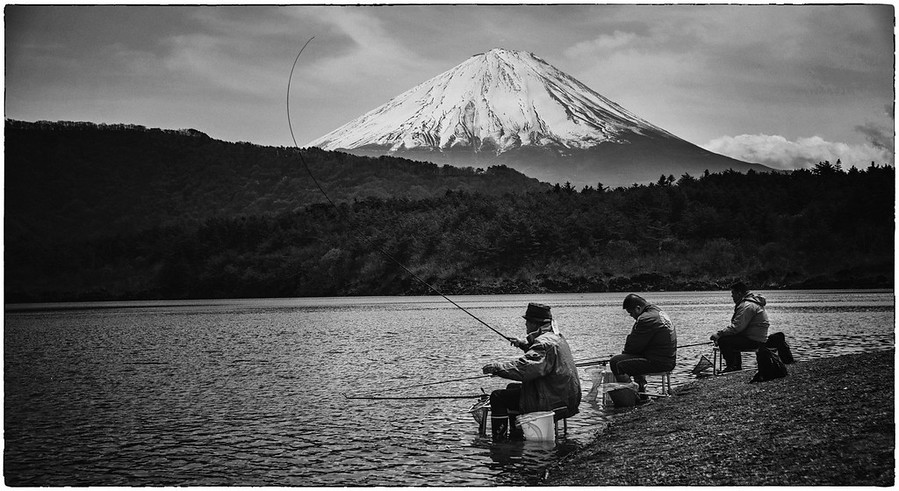 Fishing at Fuji