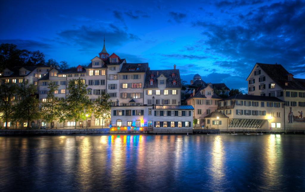 Zurich City Night Zurich at Night