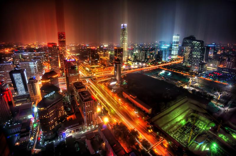 Downtown Beijing After Rain