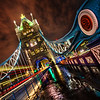 Crossing Tower Bridge at Midnight