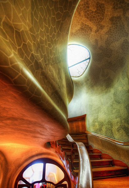 "<h2>The Myst Staircase</h2> <br/>I wish I could have met Gaudi.  The only thing I know about him is his art, but I'm guessing he was an interesting guy. <br/><br/>I also would have like to own one of his houses, but then I'd be in a pickle.  He only designed and built a few of these houses, and I think living inside of them would be amazing.  But, since it is such a work of art, I'd feel compelled to share it with the world.  You can't live in it AND open it up to the public - so what to do?  I'd like to say I'd be noble and open it up to the world, but the wonderfully selfish side of me would want it all to myself.  Maybe it's not that different than owning a Renoir.  Not that I own one of those either... but it is an interesting decision to think about. <br/><br/>- Trey Ratcliff<br/><br/><a href=""http://www.stuckincustoms.com/2011/04/17/the-myst-staircase/"" rel=""nofollow"">Click here to read the rest of this post at the Stuck in Customs blog.</a>"