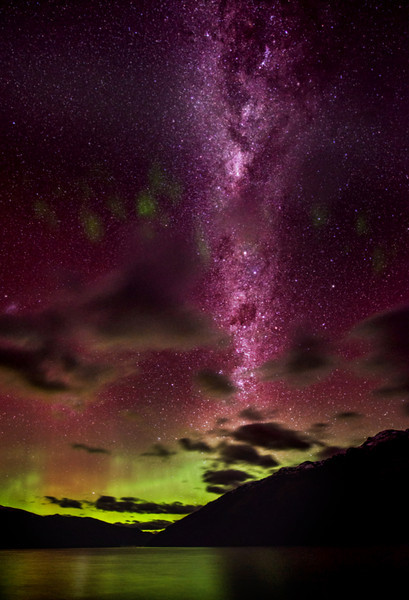 "<h2>Our Galaxy over Queenstown</h2><br/>I took this photo on the evening of the Aurora Australis a few weeks ago. I came up with (BY ACCIDENT!) a new way of orienting the Milky Way so it goes straight up and down. Really, in the sky, it is a little bit tilted to the right. Anyway, here's the trick.<br/><br/>When you take the photo, have your camera tilted to the left a bit. Then, when you crop later in Photoshop, turn on the ""Perspective"" checkbox and drag over the upper left corner until it is parallel with the Milky Way. Only people that are good at visualizing photoshop can understand what I am saying here… but I hope it helps!<br/><br/>Next time, I will do this trick by taking the tilted-photo on purpose! :)<br/><br/>- Trey Ratcliff<br/><br/><a href=""http://www.stuckincustoms.com/2012/08/06/announcing-new-lightroom-presets/"" rel=""nofollow"">Click here to read the entire post at the Stuck in Customs blog.</a>"