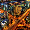 "<h2>Rush Hour</h2> <br/>If you want to see how I made this (and how you can too!), visit my <a href=""http://www.stuckincustoms.com/hdr-tutorial/"">HDR Tutorial</a>.  I hope it gives you some new tricks!<br/><br/>The HDR technique is fantastic for night shots of cities.  You would think that you could simply open up the shutter for a long time and let the light stream in.  Well, you can do that, but what usually happens is that some parts are over exposed while others are not quite bright enough.  Each of those lights down there in the busy city streets of Seoul, Korea, have different intensities.  The lights from the offices are quite dim compared to the signs on the buildings and even the taillights on the cars.  The HDR process allows each of the lights to come through at an acceptable level.<br/><br/>- Trey Ratcliff<br/><br/><a href=""http://www.stuckincustoms.com/2006/11/20/rush-hour-in-seoul/"" rel=""nofollow"">Click here to read the rest of this post at the Stuck in Customs blog.</a>"