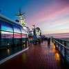 The Sunset Bathes the Deck of Disney's Wonder