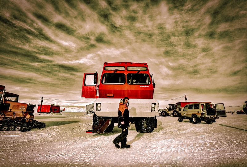 Waiting At The Airport In Antarctica