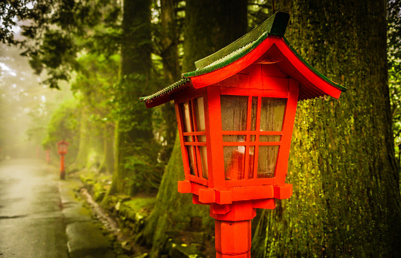 "<h2>The Lamp in Hakone</h2> <br/>The entire time I was in Hakone, it would not stop raining. This is not a great thing, when you finally make it to a place you are very excited about and there is a torrential downpour. So what to do? Well I didn't want to walk away empty-carded (new word I just made up – feel free to use it!), so I lugged out the umbrella and took a stroll to see what I could find. And now, I'm happy I did.<br/><br/>- Trey Ratcliff<br/><br/><a href=""http://www.stuckincustoms.com/2013/07/18/the-lamp-in-hakone/"" rel=""nofollow"">Click here to read the rest of this post at the Stuck in Customs blog.</a>"