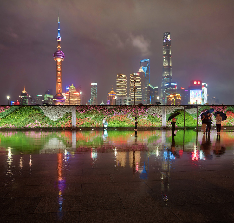 Beautiful Rain in Shanghai