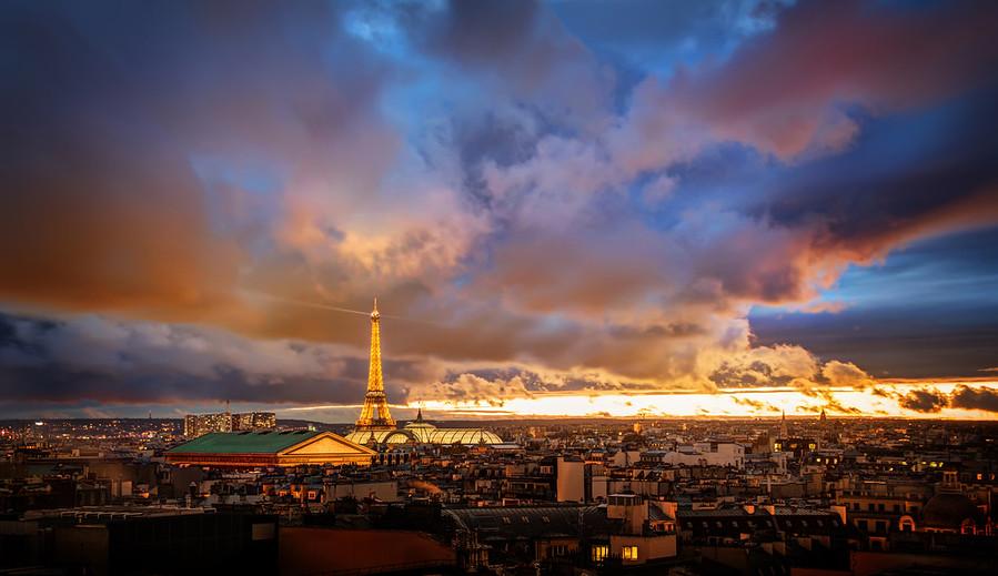 Paris France Romantic City Eiffel Tower