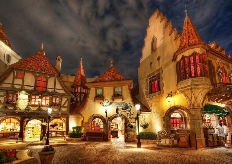 """<h2>Germanialand</h2> <br/>This is the German area of Epcot at DisneyWorld. I know it's always a bit disappointing when I say this, isn't it? I wish it was all real too… but, it is close-enough to real, so that's not so bad. It's like getting a pretty good milkshake or an above-average massage. No one complains about these things. And I didn't complain while here either… the architecture and feel was pretty cool… the food was good… no bitter-looking German tourists… a pretty good combo! :)<br/><br/>- Trey Ratcliff<br/><br/><a href=""""http://www.stuckincustoms.com/2013/03/09/germanialand/"""" rel=""""nofollow"""">Click here to read the rest of this post at the Stuck in Customs blog.</a>"""