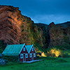 "<h2>The Cavebirds in the Gentle Evening</h2> <br/>How awesome is his little gem in Iceland? <br/><br/>It's a small town not too far from that big volcano called ""Vik"".  It is the home to many different birds, and a lot of them nest inside these tiny caves in the cliff walls.  In this area just north of the town, the local residents decided to light the side of the cliff at night to give it a special feel.<br/><br/> - Trey Ratcliff <br/><br/>The rest of this entry is <a href=""http://www.stuckincustoms.com/2010/07/17/the-cavebirds-in-the-gentle-evening/"">here</a> at the Stuck in Customs blog."