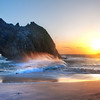 """<h2>Big Sur Sunset</h2> Last week I promised I would reveal the photo today that I took during the video above, and here it is.  I guess you can get the sense from that video how windy it was!  What a crazy day... I spent all afternoon and evening getting ready for this.  There was a decent amount of hiking, preparation, and walking-around to figure out the best place to stand.  Maybe the bad thing about that video is showing how easy it all appears to be...  in future videos, you may see some more of the problems that I face and how I deal with them.  In some ways, I think that is more real than something that appears to fairy-book perfect!  - Trey Ratcliff  Read more and see a behind-the-scenes video of this shot <a href=""""http://www.stuckincustoms.com/2011/08/08/big-sur-sunset/"""">here</a> at the Stuck in Customs blog."""