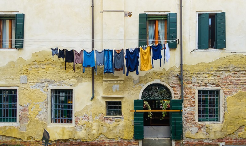 Simple Colors in the Old Part of Venice
