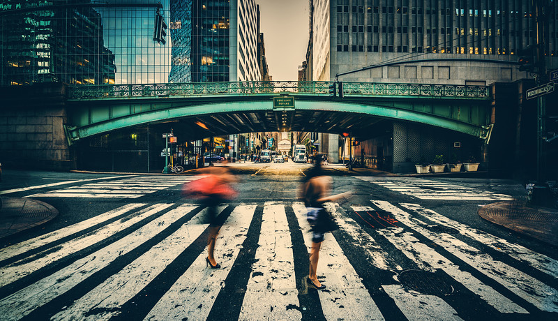 "<h2>Crossing the Street in New York City</h2> <br/>This photo was taken very nearby the Grand Central Station photo I posted a few days ago. In fact, I think it's just one block south!<br/><br/>While I was taking this, a gentleman-fan of the blog was giving me ""that look"". After I was done taking the photo, I beckoned him over to say hello! He was very nice and we had a nice little talk. So, if you ever find yourself in this situation, just come over and say hello – I'm happy for it!<br/><br/>- Trey Ratcliff<br/><br/><a href=""http://www.stuckincustoms.com/2012/11/11/crossing-the-street-in-new-york-city/"" rel=""nofollow"">Click here to read the rest of this post at the Stuck in Customs blog.</a>"