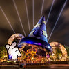 "<h2>The Magic of Disney</h2> <br/>If you want to see how I made this (and how you can too!), visit my HDR Tutorial. I hope it gives you some new tricks!<br/><br/>This was taken this evening at MGM Studios in Disney World before we went to go see the big fireworks show. The only problem with making your family and 6-year-old son (he is now 8) stand around while you set up your tripod and take a bunch of shots is that it gives them ample opportunity to see little toys they cannot live without.<br/><br/>I took so long to nail this shot that we ended up buying two things that lit up in garish colors and made a lot of racket.<br/><br/>This is a 5 exposure HDR shot at 100 ISO. Whenever there is anything like streaming lights, sun rays, search lights, and the like, the HDR process always makes them pop a bit.<br/><br/>- Trey Ratcliff<br/><br/><a href=""http://www.stuckincustoms.com/2007/04/15/the-magic-of-disney/"" rel=""nofollow"">Click here to read the rest of this post at the Stuck in Customs blog.</a>"