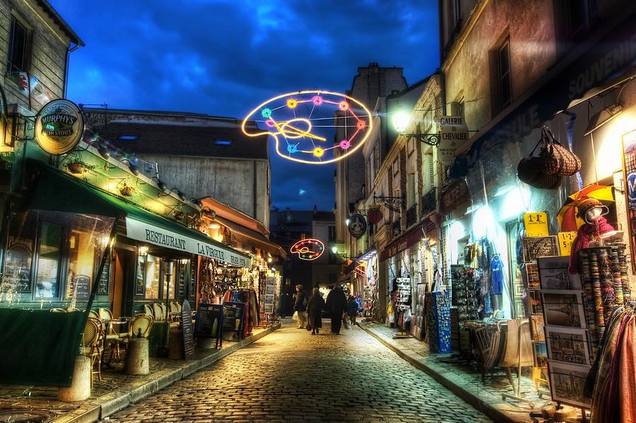France Paris Montmartre Street