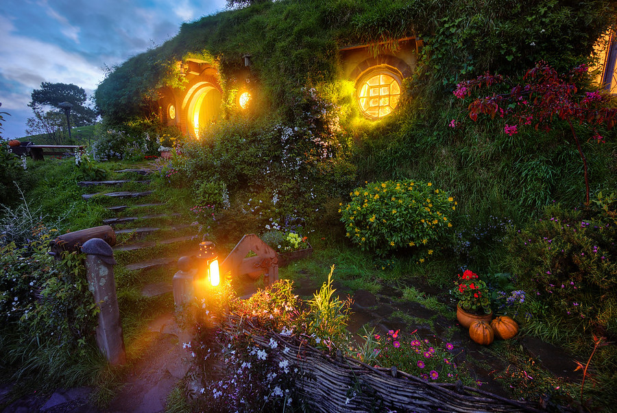 Bilbo's Hobbit Hole at Bag End Hobbiton