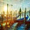 Morning in Venice at the Gondolas