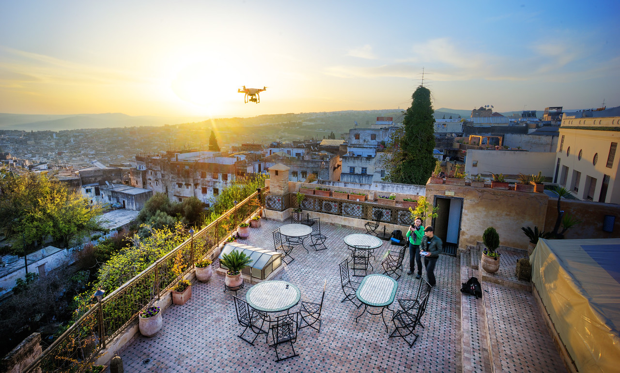 Quadcopter Over Fes
